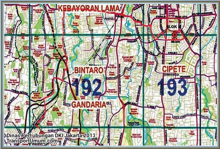 kopaja s 613 blok m - bintaro jaya_wm r